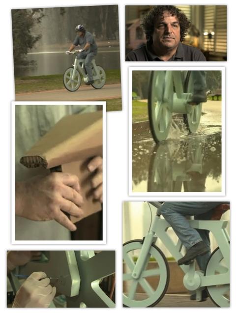 Le vélo en carton d'Izhar Gafni