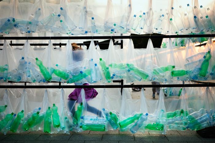 Labyrinth of plastic waste 006